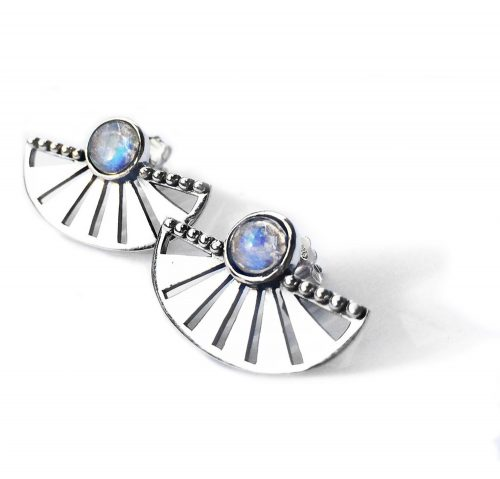Adrift Earrings With Moonstone