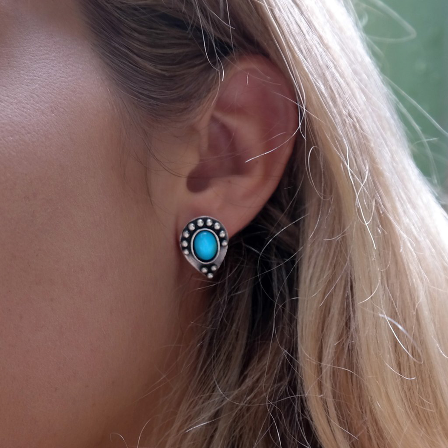 Coralie Studs With Turquoise