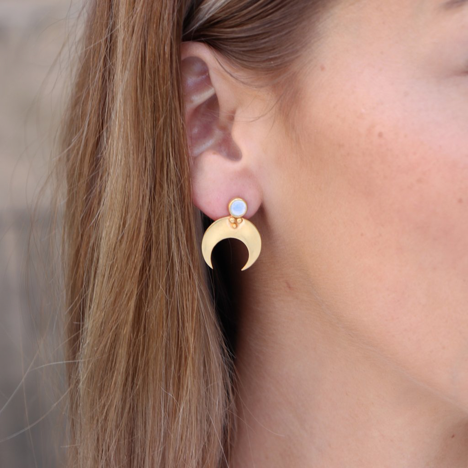 Eclipse Earrings Gold