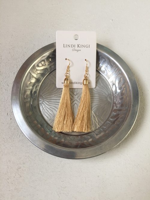 Tassel Earrings Soft gold