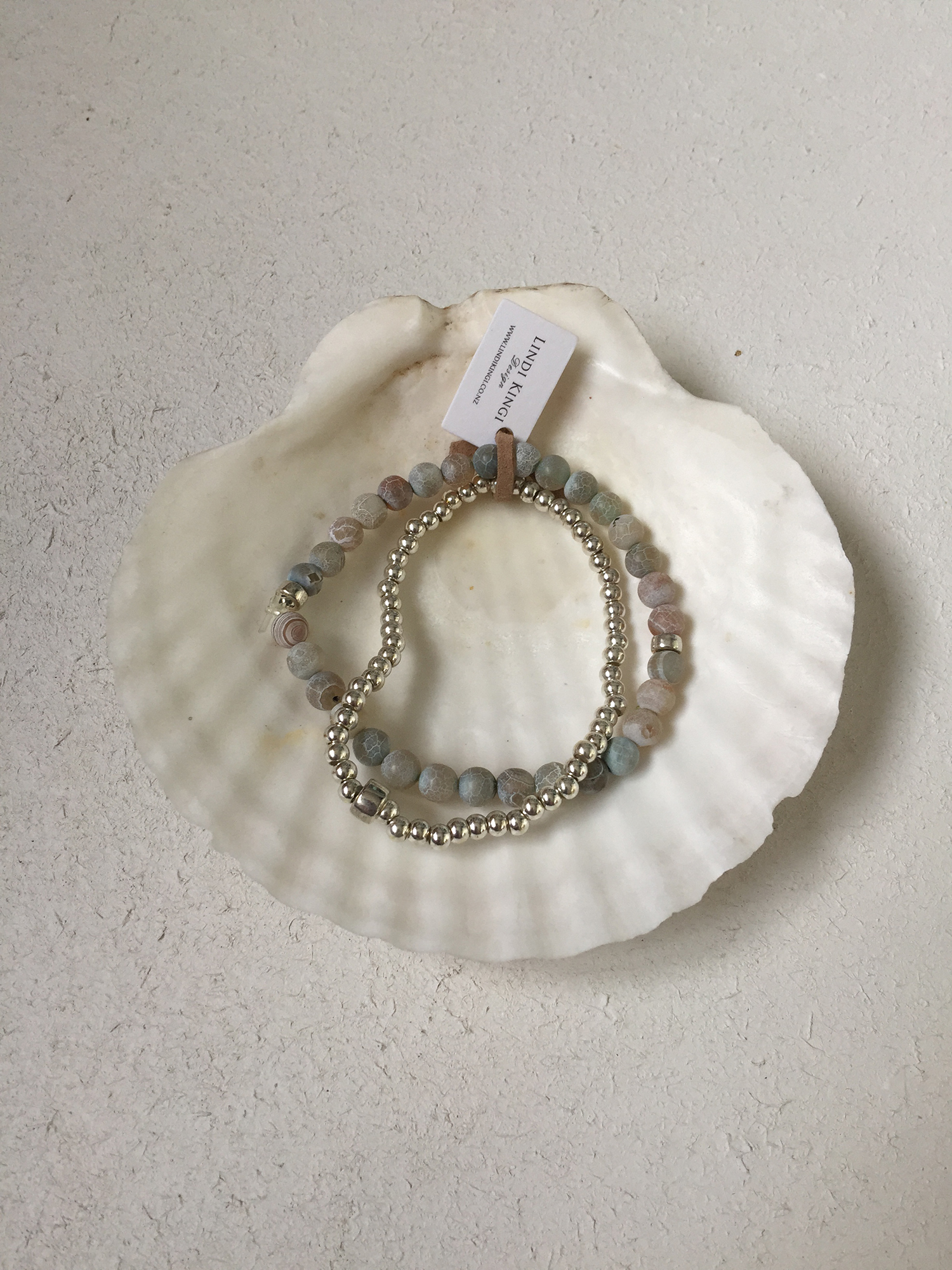 Silver & Pastel Bracelet