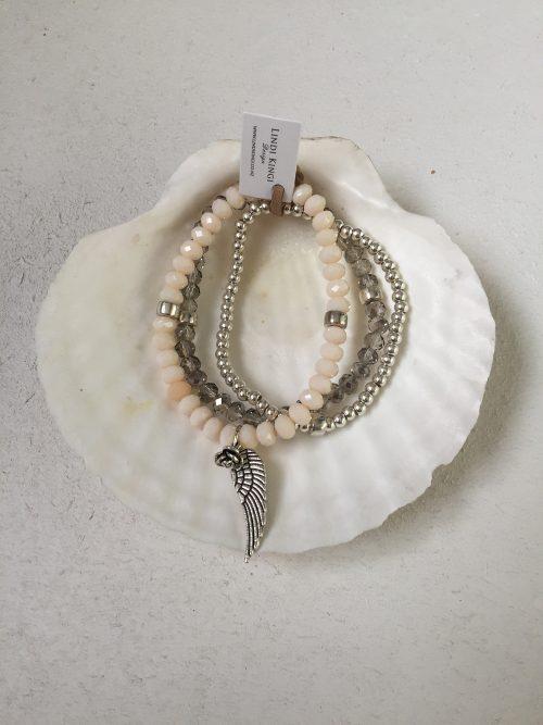 Silver & Cream Bracelet