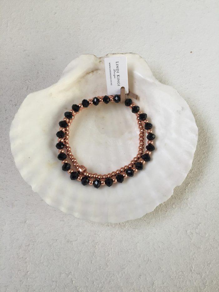 Black & Gold Bracelet Set