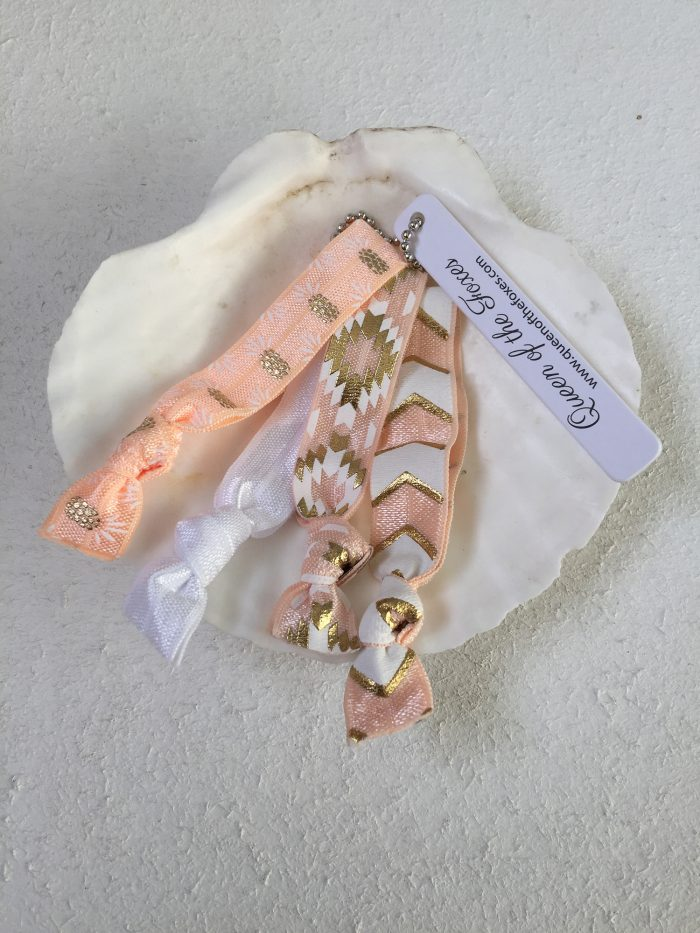 Apricot, White & Gold Luxe Bands